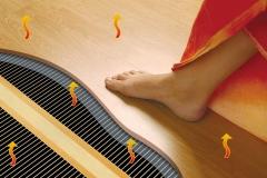 Электрический пленочный теплый пол - ногам будет комфортно