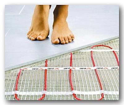 ультрафиолетовый теплый пол под ногами