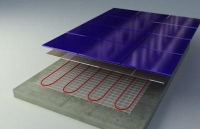 конструкция тонкого теплого пола с плиткой