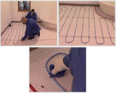 Монтаж кабельного пола