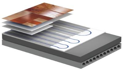Теплые полы бетонной системы