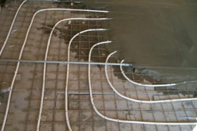 Заливка трубопровода