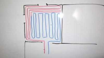 Комбинирование схем укладки трубопровода