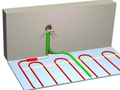 Расположение кабеля для электрического теплого пола
