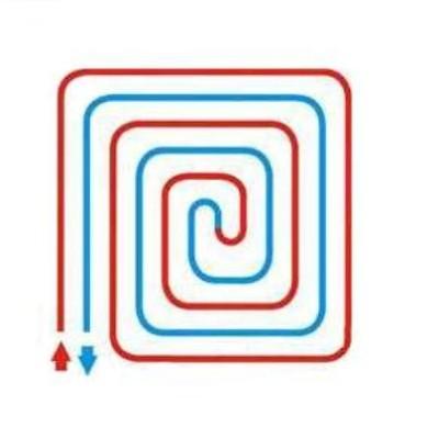 Спиральная укладка труб делает нагрев равномерным.