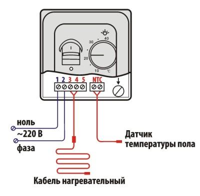Общая схема проводов