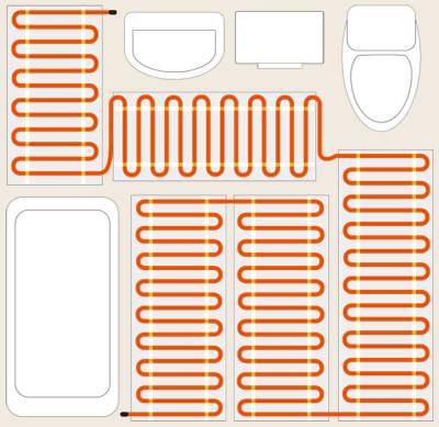 Полезная площадь укладки кабеля
