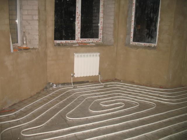Тёплый пол от отопления в квартире
