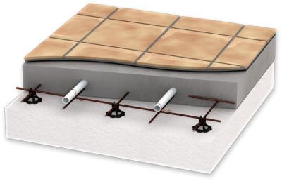 Схематическое размещение стяжки в разрезе