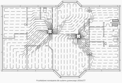 Пример укладки системы воздушных труб (схема)