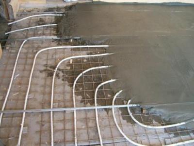 Процесс выполнения бетонной заливки