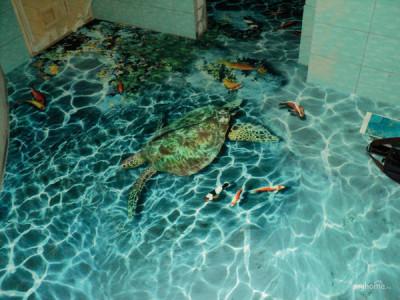 Наливной 3D художественный пол