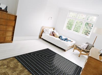 Теплый пол в спальне