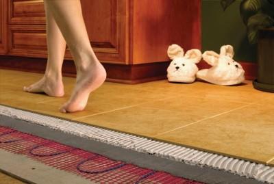 Технология укладки инфракрасного теплого пола под плитку